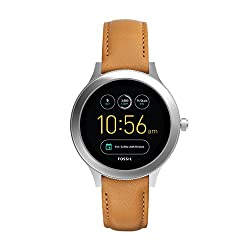 Fossil Gen 3 Smartwatch - Q Venture Luggage Leather | Women's Smartwatch With Bluetooth Technology, Activity Tracker, Smartphone Notifications