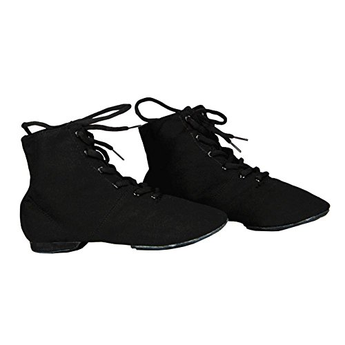 Morbido da Sport Yoga le Swing Ballet Allenamento Signore Ragazze per Nero Scarpe Ginnastica Donna Jazz Tela Bimba Ballo Delle Fitness Uomini EwqxdF8ES