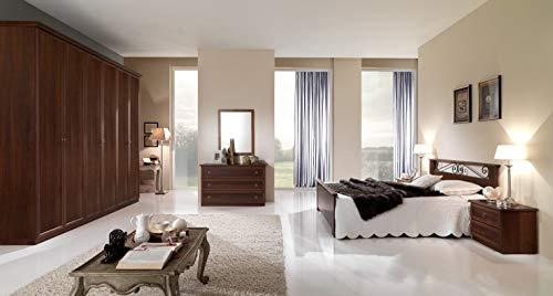 Zucca mobili camera matrimoniale classica (noce)