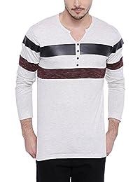 Campus Sutra Men's Henley T-shirt