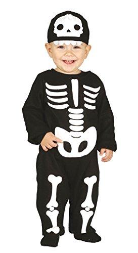 Kostüm für Kinder Karneval Fasching Halloween Gr. 74 - 92, Größe:86/92 (Skelett Kostüm Baby)
