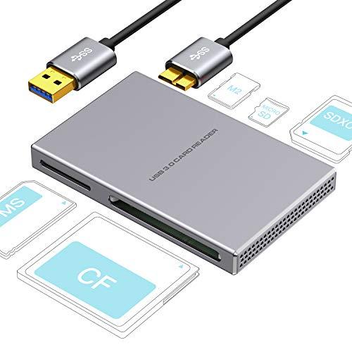 1 USB 3.0, Aluminiumlegierung mit USB Kabel für SD, Micro SD, SDXC, SDHC, Micro SDHC, Micro SDXC, kompatibel mit Windows 10, 8.1, 8, 7, Vista, XP, Mac OS ()
