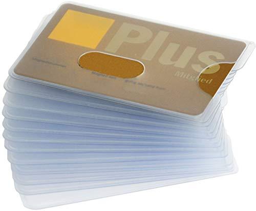 valonic Kreditkartenhülle, 12 Stück, matt transparent, mit Loch Ausschnitt, EC Karten Hülle, Scheckkartenhülle, Kartenhüllen, Schutzhülle, Ausweishülle, Fahrkartenhülle, Führerschein Hülle -