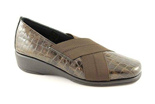 GRUNLAND ROSY SC1264 caffè scarpe donna comfort elastico 40