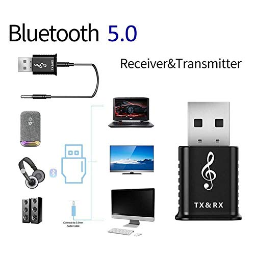 Accessori per computer 2 1 Adattatori Bluetooth USB 5.0 Trasmettitore Bluetooth Ricevitore Computer TV Altoparlante Adattatore audio wireless for