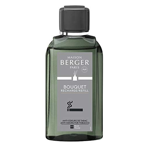 MAISON BERGER PARIS - 6028 - Recharge Bouquet Anti-Odeur Tabac - Boisé
