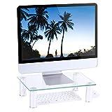 RFIVER Support Moniteur de Verre Trempé Transparent Lever PC Ecran/Ordinateur/iMac...