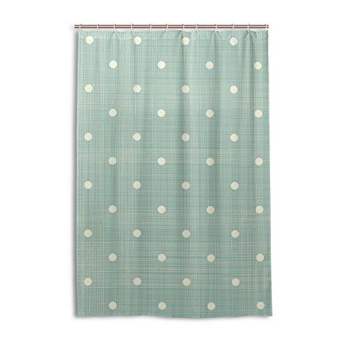Mi Diario Retro verde rayas con lunares Vintage cortina de ducha 48x 72pulgadas, resistente al moho y poliéster resistente al agua–cortina de baño
