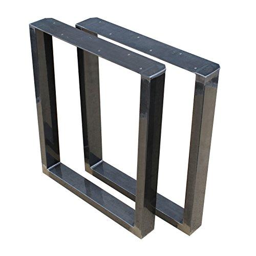 PAAR Größe WÄHLBAR BestLoft® (90L) Tischbeine Tischkufen Tischfüße Industriedesign Tischgestell Tischuntergestell Tischkufe Kufengestell Tischkuven Kufen Kuven Tisch (90x72cm)