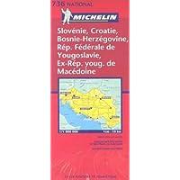 Carte routière : Slovénie - Croatie - Bosnie-Herzégovine - République Fédérale de Yougoslavie ex-République Yougoslave…