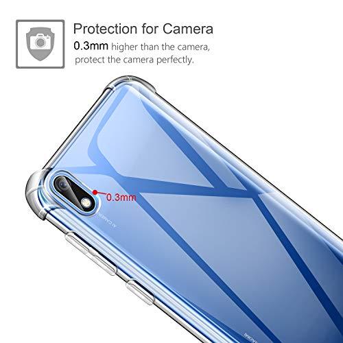 2 Pack Cristal Templado Protector de Pantalla Ultra Fina Silicona Transparente TPU Carcasa Protector Airbag Anti-Choque Anti-ara/ñazos Cover para Xiaomi Redmi 7A Leathlux Funda Xiaomi Redmi 7A +