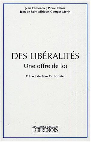Des libéralités