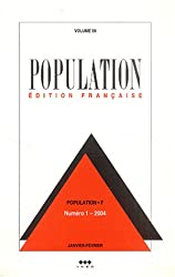 Population, Volume 59 N° 1, Janv :