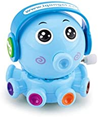 Emob Cute DJ Octopus Toys Set with Winding Chain and Moving Wheels Feature for Toddlers (Octopus)