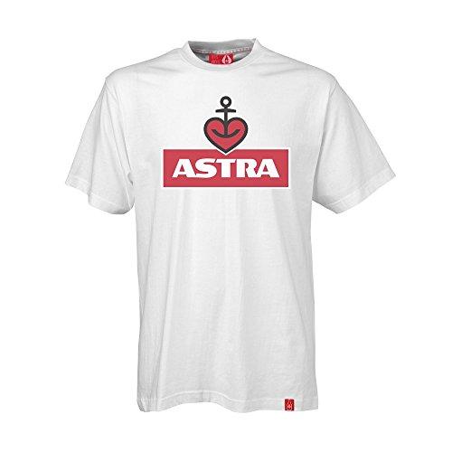 ASTRA Herren T-Shirt Weiss, Oberteil für Herren, Basic-Shirt mit Herzanker-Aufdruck, Männer, lässige Herren-Bekleidung (3XL)
