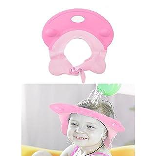 AIU Baby Shampoo Schutz Duschkappe Badekappe einstellbar (Rose)