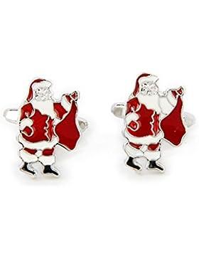 Herren Weihnachtsmann Manschettenknöpfe Weihnachtsgeschenk
