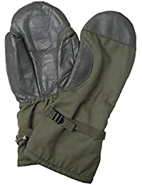 Genuine German Army Issued Goretex Waterproof Extreme Cold Weather Fur Lined Mitts in Olive