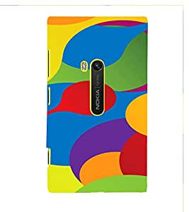 PrintVisa Colorful Pattern 3D Hard Polycarbonate Designer Back Case Cover for Nokia Lumia 920