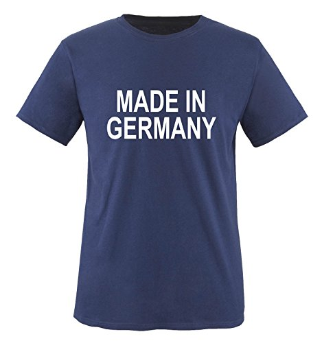 Comedy-Shirts MADE IN GERMANY. UNISEX T-Shirt Größe S - Navy/Weiss