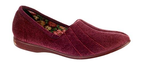 GBS Slippers , Damen Hausschuhe Rot rose 35 Heather
