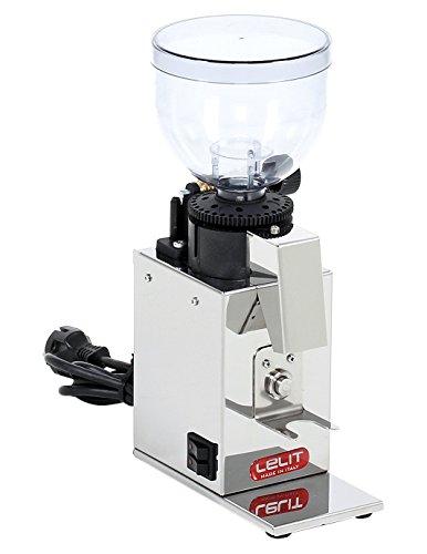 Lelit PL043 MMI Fred PL043MMI Kaffeemühle-Edelstahl-Gehäuse-Mikro-regulierung des Mahlens, Stainless Steel,