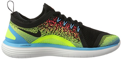 Nike Free Run Distance 2, Chaussures de Running Compétition homme Multicolore (Volt/black-hot Punch-chlorine Blue-white)