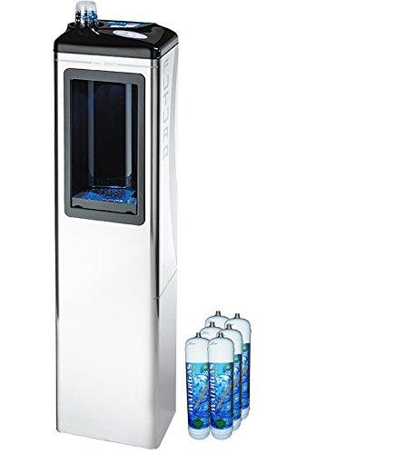 Kühler Dispenser Wasser Halbsäule Wasserfilter System Forhome®  gereinigtes Wasser Auslauf für Umwelt, gekühlter und kohlensäurehaltiges für Haus und Büro + 6 Flaschen CO2