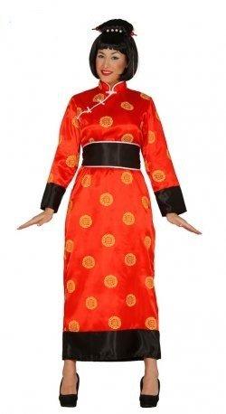 Kimono China rotes Damen Kostüm in Gr. M / L , Größe:M/L