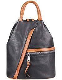 962067251e60e OBC Damen Rucksack Tasche Schultertasche Leder Optik Daypack Backpack  Handtasche Tagesrucksack Cityrucksack