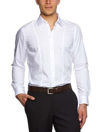 Strellson Premium Herren Businesshemd Slim Fit 11002378 / L-Nick, Gr. 41, Weiß (119)