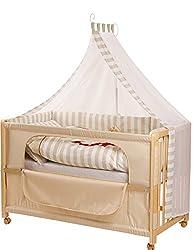 roba Roombed, Babybett 60x120 cm'Schnuffel', Beistellbett zum Elternbett mit kompletter Ausstattung