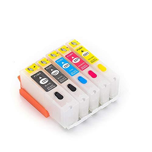 Caidi PGI-570 CLI-571 - Cartucho de Tinta Recargable para Ts5050 Ts5051 Ts5053 Ts5055 Ts6050 Ts6051 Ts6052 TS8050 Ts8051 Ts8052 Ts8053 Ts9050 Ts9055