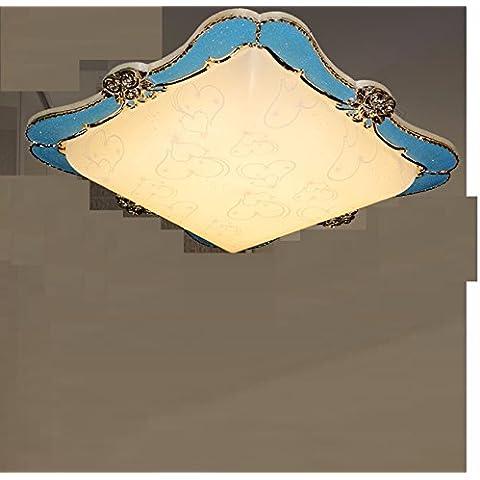 Continental resina Led-Lampen Lampada da soffitto romantica camera da letto Jane Osce idilliaco stile Coreano camere , Lampade - era di €2,005) calda luce 51*51