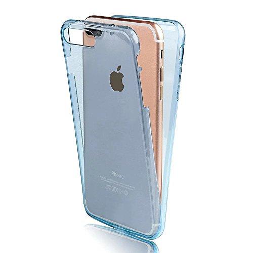 iPhone 6S Plus TPU Silikon Hülle,iPhone 6 Plus 360°Full Body Cover,Sunroyal Ultra Dünn Transparent Handyhülle Schutzhülle Durchsichtig TPU Crystal Clear Case Backcover Bumper Slimcase Handyhülle Full  Full Body-03