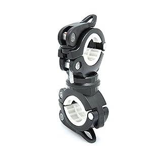 extrbici 360grados rotación multifuncional Universal bicicleta luz soporte linterna de goma soporte estante de luz bicicleta equipo para diámetro 1,8cm a 3,8cm bomba de bicicleta con liberación rápida
