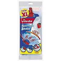 Vileda - Recharge/têtes de balai à franges SuperMocio 3D 3Action, 1 recharge