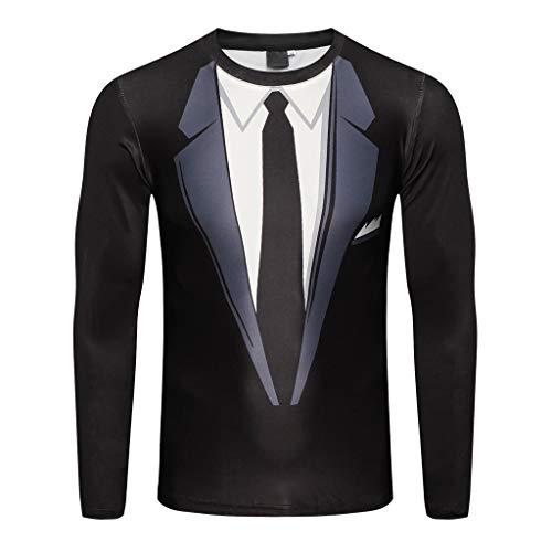 Überprüfen Sie Die Muster Mens Kleid Shirt (Herren Sweatshirt Sweater Uni Rundhals-Ausschnitt Baumwolle Basic Kontrast Kapuzenpullover Sweatjacke,M-XXL)