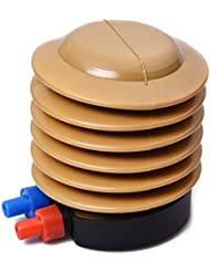 Pompe pneumatique - SODIAL(R) pour velo Ballons Jaune Bleu Boitier en plastique Gonfleur de pompe a air a commande au pied