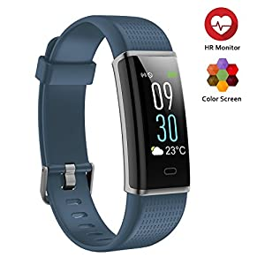 ScoFit Fitness Tracker, Waterproof Heart Rate Monitor Colour Screen Fitness Watch Activity Tracker Pedometer
