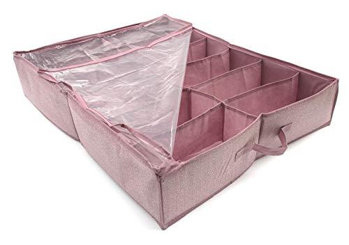 Funda porta zapatos, caja 6 pares zapatos debajo cama