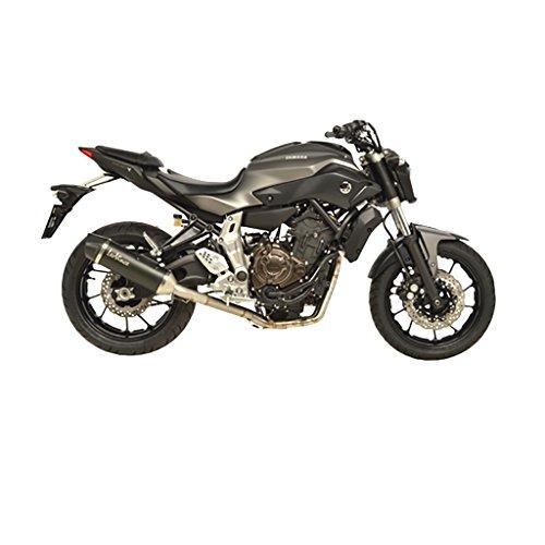 Instalación completa Nero de escape 2–1Acero Inoxidable Negro Yamaha MT 07Moto Cage...