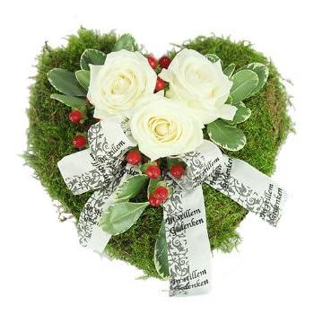 Grabschmuck Trauerherz - Blumen für ein Grab: Amazon.de