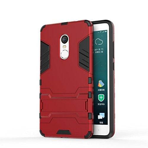 Xiaomi Hongmi Note 4 Fall-Abdeckung 2 in 1 New Armour Tough Art Hybrid Dual Layer Rüstung Defender PC Hard Cases Standplatz-Abdeckung Stoß- Fall Für Xiaomi Hongmi Note 4 ( Color : Red , Size : Xiaomi  Red