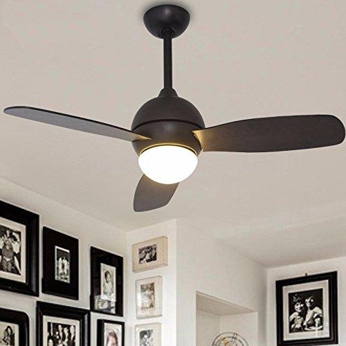 Industriale ventola Air-Ceiling American sala da pranzo con luce in legno ventilatori a soffitto semplice foglia continentali Ventilatore retrò luce ,nero luce