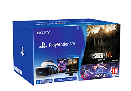 PlayStation 4: PSVR + Camera + VR Worlds (Voucher) + Resident Evil VII [Bundle]