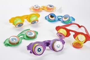 Brille mit Augen farbl. sort., OPP