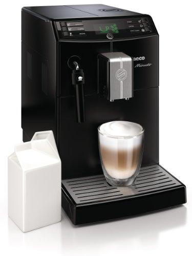 Saeco HD8761/01 Minuto Kaffeevollautomat, klassischer Milchaufschäumer, schwarz - 2