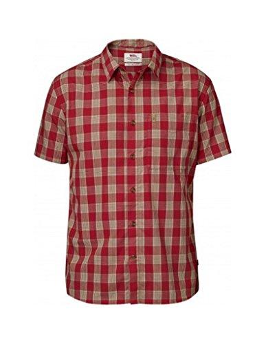 Fjällräven Herren Övik Button Down Shirt SS Oberhemd, Deep Red, M