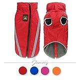 Hundemantel Hundebekleidung Hundejacke Haustier Winter wasserdicht Jacken reflektierend warm Farbe Größe wählbar (4XL, Rot)